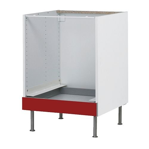 IKEA FAKTUM - Mueble bajo para horno, de Abstrakt rojo - 60 cm ...