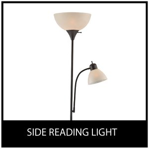 Light Accents SUSAN Floor Lamp 72'' Tall - 150-Watt with Side Reading Light (Black) by LIGHTACCENTS (Image #7)