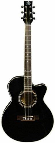 JB Player JBEA15BK Acoustic Electric Guitar, Black (Jb Player Acoustic Electric Guitar)