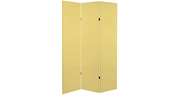 Amazon Com Oriental Furniture 6 Ft Tall Double Sided Laguna Yellow Canvas Room Divider Furniture Decor