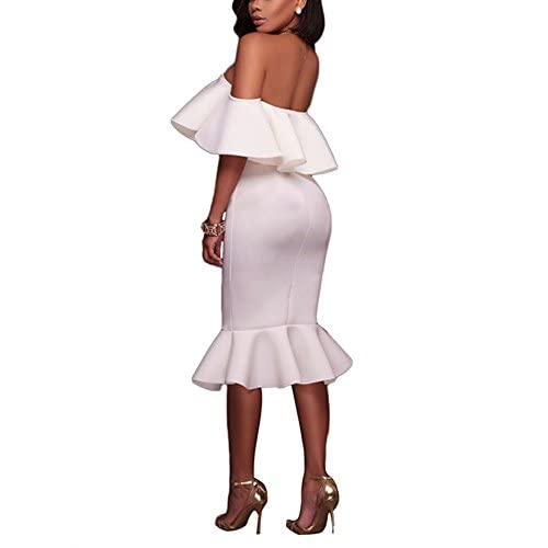 M/&S/&W Womens Off The Shoulder Layered Ruffle Party Maxi Dress