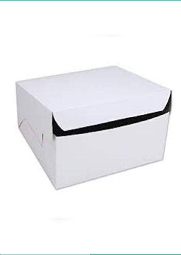 Priya Industries – White -Plain White Paper Box 10 x10 x 4 (Set of 11 pcs) for 1 Kg