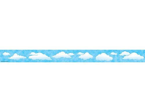 Teacher Created Resources Clouds Straight Border Trim, Multi Color ()