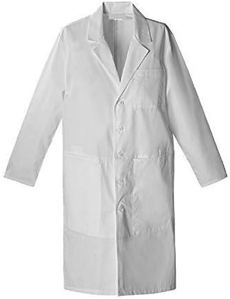 Bata blanca química, talla 14 años, unisex – 100% algodón – para ...