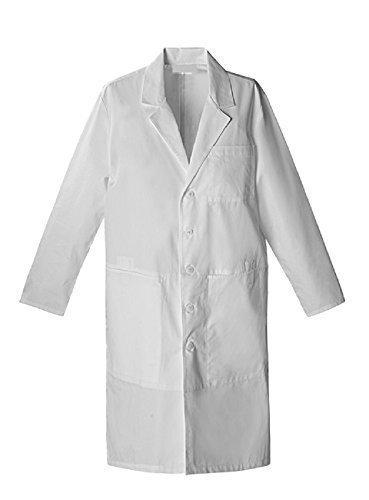 Bata blanca química, talla 14 años, unisex – 100% algodón – para material escolar, laboratorio escolar blanco 14 años : Amazon.es: Ropa y accesorios