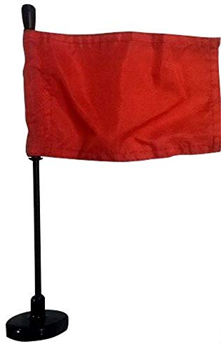 Americas & Americas Red Car Flag with Black Magnetic Flag Pole