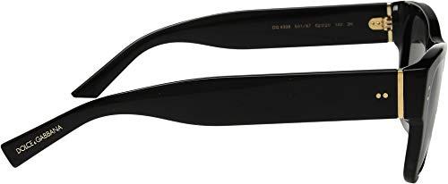Soleil amp; de SOUL Lunettes GREY homme DG SHINY 4338 Gabbana BLACK Dolce wHZgqx6q