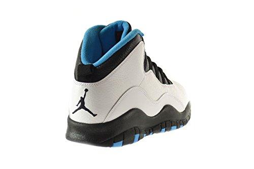 Nike Air Jordan Retro 10, Zapatillas de Deporte para Hombre white/dk powder blue-black