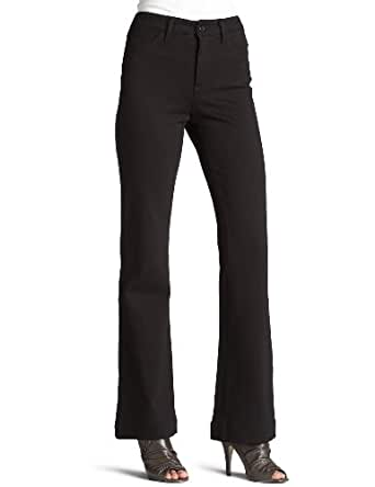 NYDJ Women's Boot Cut Ponte Knit Jeans, Black, 10