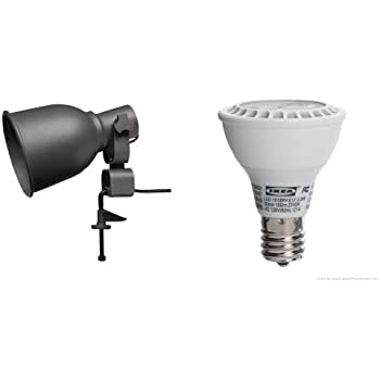 ikea hektar wall clamp spotlight and ledare led bulb e17 reflector r14 led household light. Black Bedroom Furniture Sets. Home Design Ideas