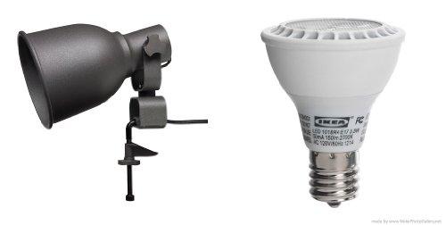 Ikea HEKTAR Wall/clamp spotlight and LEDARE LED bulb E17 ...