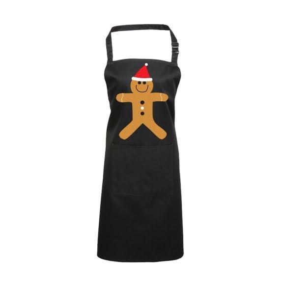 Batch1 Christmas Gingerbread Man Festive Fun Novelty Xmas Chefs Apron