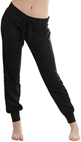 ToBeInStyle Women's Jogger Ankle Length Sweatpants - Black - Medium (Ankle Length Pants compare prices)