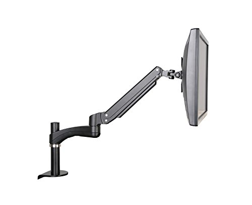 GSA12S Gas Spring Desk Mount LCD Monitor Arm Stand w/ vesa bracket & monitor arm: free up/down & left/right motion