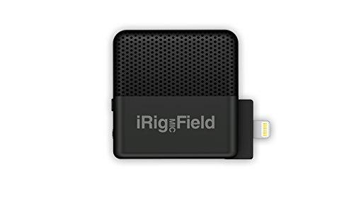 IK Multimedia iRig Mic Field stereo condenser microphone for iPhone and iPad - IP-IRIG-FIELD-IN - Black