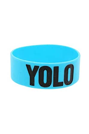 YOLO Turquoise Rubber Bracelet