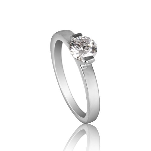 Fashion Plaza Silver Tone 1/2CT CZ Diamond Cut Ring (available IN SIZES 5 6 7 8 9) R357 (Engament Ring Diamond)