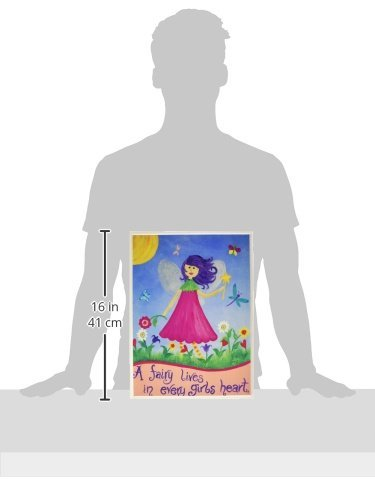 The Kids Room by Stupell A Fairy Lives In Every Girl's Heart Rectangle Wall Plaque, 11 x 0.5 x 15, Proudly Made in USA by The Kids Room by Stupell (Image #2)