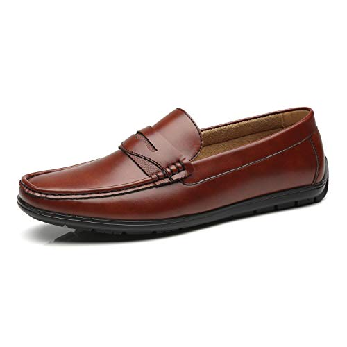 Faranzi Mens Driving Moccasins Penny Slip on Loafers Classic Comfortable Boat Shoes Casual Driving Shoes for ()