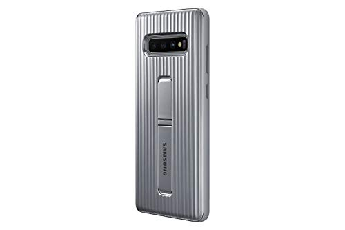 Samsung Galaxy S10+ Rugged Protective Case with Kickstand, Silver