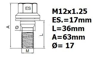 PEUGEOT 407 2004-2012 M12x1,25 contre-/écrous antivols PROTECTION DES VIS