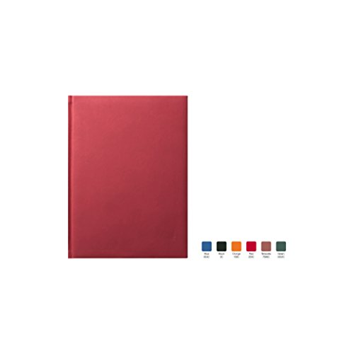 SYMPHONY Ruled, Padded Executive Hardcover Notebook Journal with Premium Paper, 256 Lined Pages, With Book Mark Ribbons, Lined Pages, Red Cover, Size 5.75