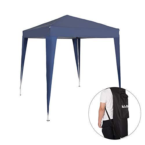 Peach Tree 6.5' x 6.5' Foldable Portable Pop Up Heavy Duty Garden Gazebo Patio Canopy with Carry Bag