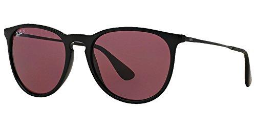 RB Erika Sunglasses (54 mm, Black Frame Solid Purple Polarized - Erika Polarized Rb