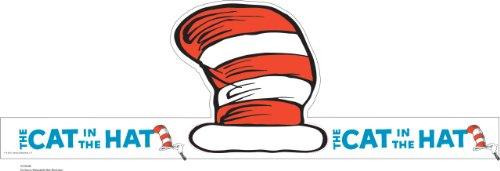 Eureka Dr. Seuss Back to School Cat In The Hat Adjustable Classroom Party Hat, 32 - In Hat Cat Dr Book The Seuss