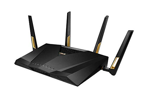 ASUS RT-AX88U – Router Gaming AX6000 Doble Banda Gigabit (Triple VLAN, Wifi 6, compatible PS5, Ai-Mesh soportado, WTFast…