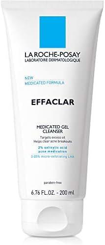 La Roche-Posay Effaclar Medicated Gel Acne Cleanser, 6.76 Fl. Oz.