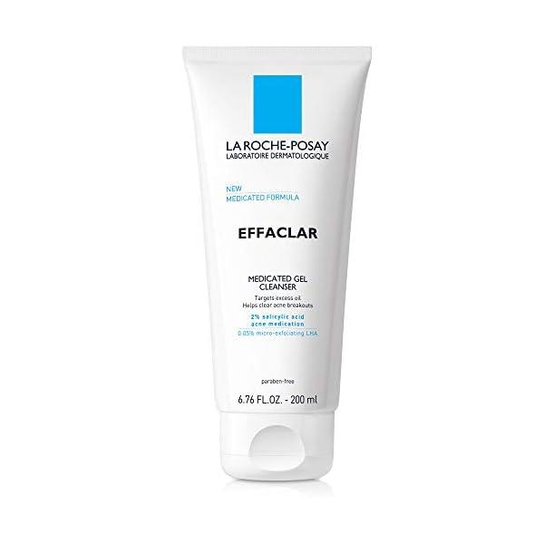 La Roche-Posay Effaclar Medicated Gel Acne Face Wash, Facial Cleanser with Salicylic...