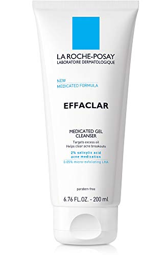 La Roche-Posay Effaclar Medicated Gel Acne Face Wash, Facial Cleanser with Salicylic Acid for Acne & Oily Skin, 6.76 Fl oz.
