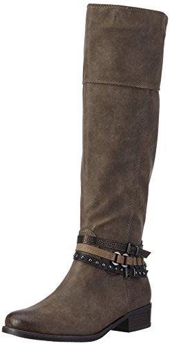 Marco Tozzi 25501, Botas de caña alta  Mujer Marrón (TOBACCO A.COMB 322)
