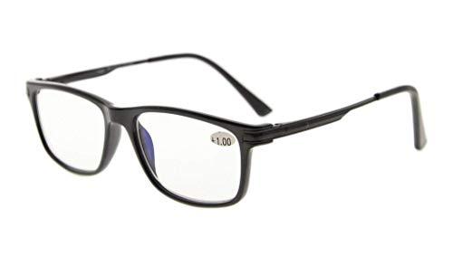 702b51930d8 Eyekepper TR90 Frame Metal Spring Arms Noline Bifocal Progressive  Multifocus Glasses 3 Levels Vision Reading Glasses
