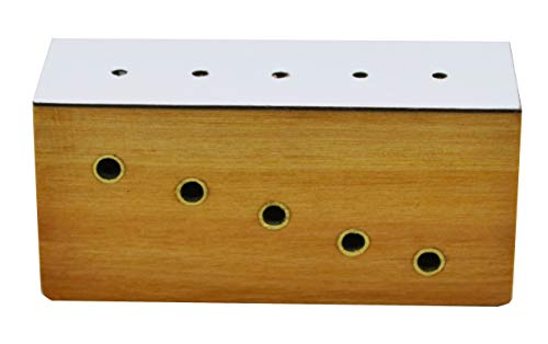 Hardwood Insect Pinning Block, Contains 5 Holes with Different Heights for Pins - Eisco Labs ()