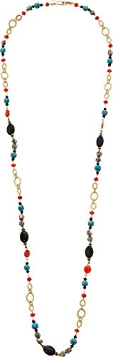 Chan Luu Women's Turquoise Chain Long Necklace Turquoise Mix One ()