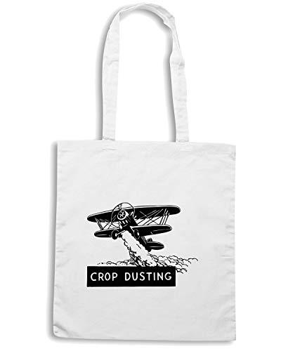 Speed Borsa Shirt PLANE DUSTING CROP Shopper Bianca WES0584 xCFaBT
