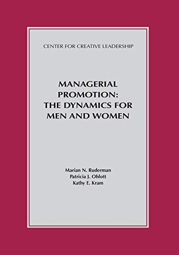 Managerial Promotion: The Dynamics for Men and Women