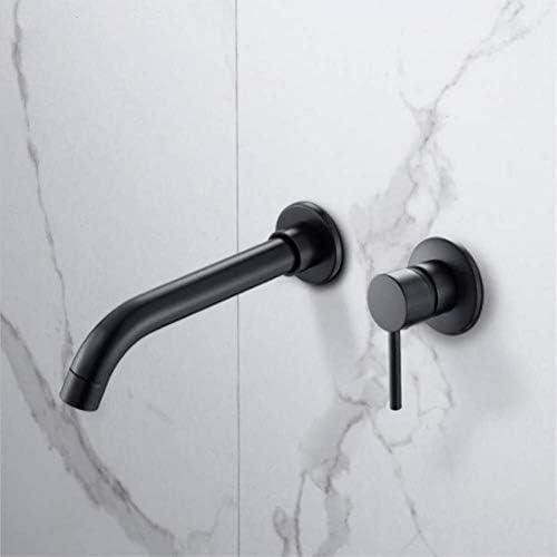 Hahn Modernes Messing Wand-Waschtischmischer Hahn-Badezimmer-Küche-Wannen-Hahn-Schwenker-Tülle Bad mit Einhebel in Schwarz Gold Silber xuwuhz