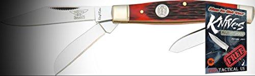 Stockman Red Jigged (Rough Rider Elite Knife 011291 Folding Stockman Red Jigged Bone Handle 3 1/4