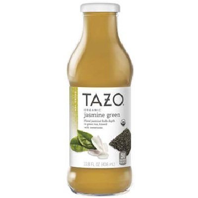 Tazo Organic Jasmine Green Iced Tea, 13.8 Fluid Ounce -- 12 per case. by TAZO