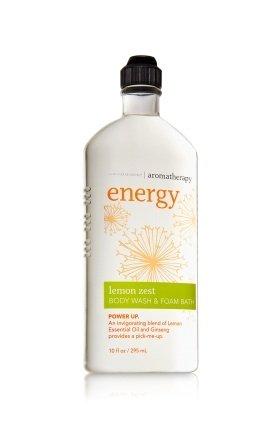 (Bath and Body Works Aromatherapy Body Wash & Foam Bath Energy - Lemon Zest, 10oz)