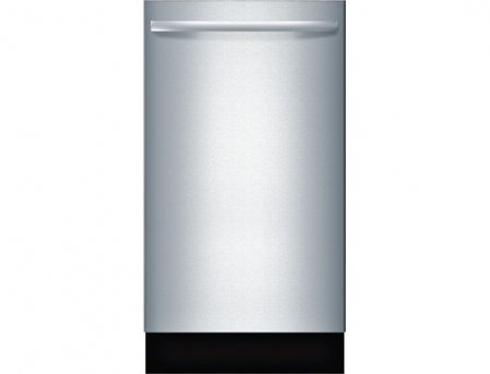 """Bosch SPX68U55UC 18"""" 800 Series Dishwasher with 10 Place Settings Fully Integrated Control Panel 44 dBA Quiet Operation Stainless Steel Euro Tub and AquaStop Plus Protection: Stainless"""