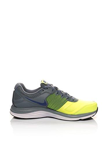 Nike Herren X Dual Fusion X Running shoes-grey/schwarz/rot/weiß, Größe 7 Grau/Gelb