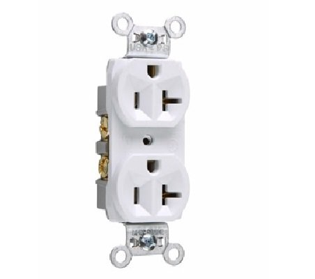 (Pass & Seymour Legrand CR20-W Spec Grade Receptacle, 20A, 125V, White (10 Pack))