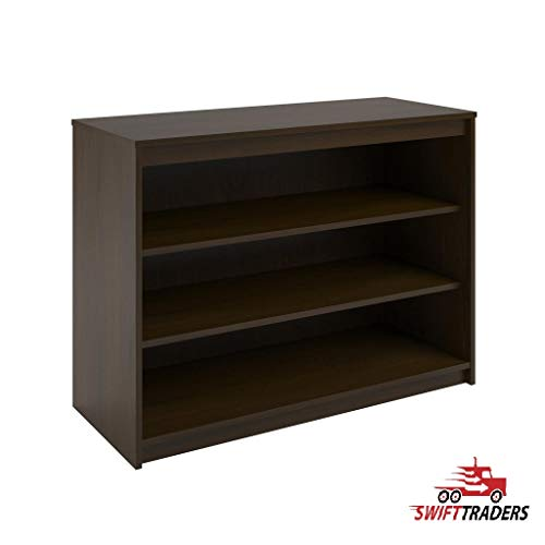 (SWIFT TRADERS Avenue Greene Raven Resort Cherry Bookcase is Designed for use with The Loft Bed or Used as a Stand-Alone Bookcase - with Mossy Oak Tritan 1 Liter Water Bottle Included)