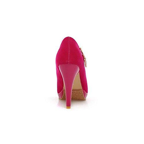 Sandalias de rojo Adee para vestir mujer rosa qwWCv5d