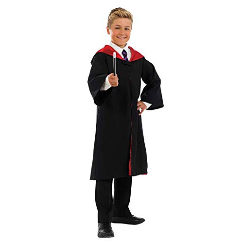 Neville Longbottom Costume (fun shack Kids Witch Wizard Costume Boys Girls Magical Robes Magic School Outfit -)