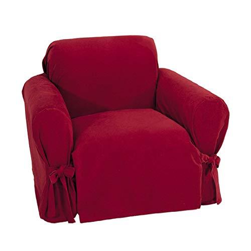 本物の クラシックSlipcovers Brushed Twill椅子Slipcover Twill椅子Slipcover Brushed Crimson B077NRF5HK B077NRF5HK, スントウグン:04cd7715 --- irlandskayaliteratura.org